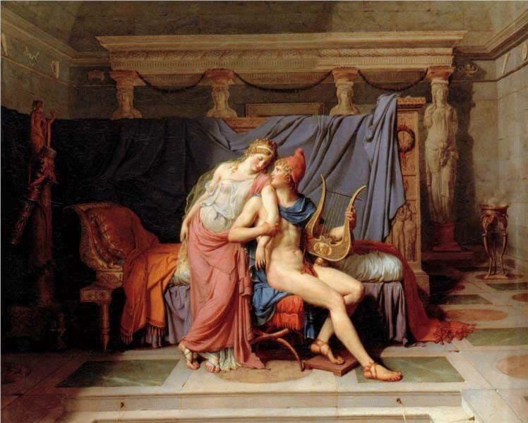 Паріс викрадає Єлену. Троянський цикл міфів