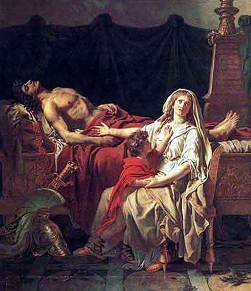 Пріам у шатрі Ахілла. Поховання Гектора. Троянський цикл міфів. М. А. Кун. Легенди і міфи Давньої Греції